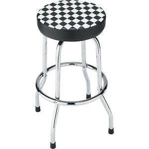 Atd Tools Shop Stool With Checker Design
