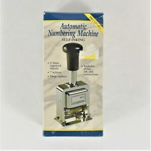 rogers Automatic Pro Stamp Numbering Machine Preowned Box Shows Wear