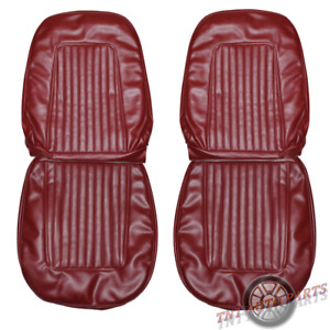 1967 1968 Camaro Seat Covers Front Bucket Upholstery Skins Red Replacement New