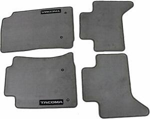 Genuine Oem Light Chrocoal Carpet Floor Mats For Toyota Tacoma Double Cab