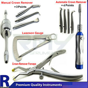 Dental Crown Remover Gun Automatic Manual Forceps Medical Oral Instruments Tools