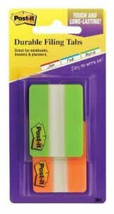 3m 686 2go 2 In X 1 5 In Fluorescent Green O Post it r Durable Tabs 686 2go