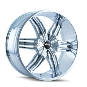 4 New 24x9 5 Mazzi Rush Chrome Wheel rim 5x115 792 24988c