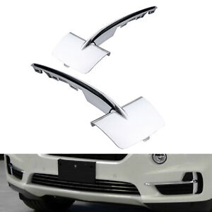 New Pair Front Bumper Grill Grille Trim Molding Chrome For Bmw F15 X5 2014 2018