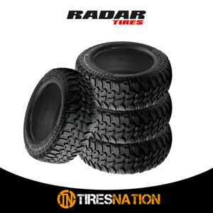 4 New Radar Renegade R 7 M t 33x12 5x20 114q Off road Traction Tire