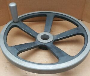 Jergens 14 Hand Wheel With Handle 1 7 8 Bore 5 spoke Cast Aluminum Alloy
