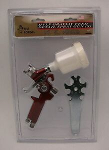 Hvlp Gravity Feed Detail Paint Spray Gun By Tru Forge Brand New New Low Price