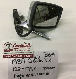 Used Vintage Ford Crown Victoria 1989 Right Side View Mirror drivers Quality