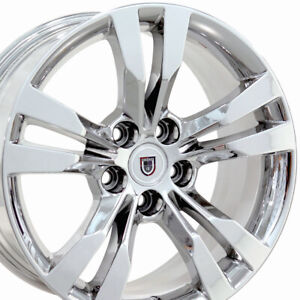 18x8 5 Chrome Cts Style Wheels Set Fits Cadillac Buick Chevy