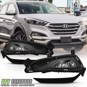 For 2016 2018 Tucson Bumper Fog Lights Driving Lamps W trim Cover Left right