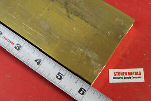 1 X 3 C360 Brass Flat Bar 6 Long Solid 1 00 Plate New Mill Stock H02