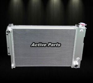 3 Row Aluminum Radiator For 1967 68 69 Chevy Camaro Firebird 23 Wide Core Cc370