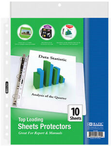 Bazic Top Loading Sheet Protectors 10 pack Case Pack 48