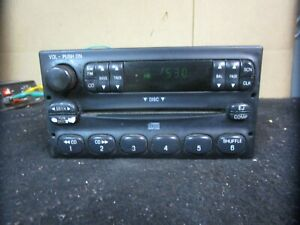 98 99 00 01 02 03 04 Ford Crown Victoria Radio Receiver Cd Player 1w7t 18c815 Aa