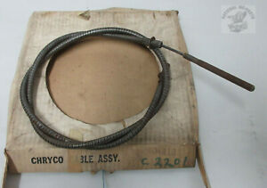 Mopar Nos 1962 65 Plymouth Dodge B body Front Parking Brake Cable 2404818