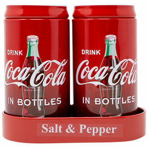 Coca Cola Salt and Pepper Shakers Red