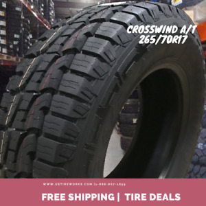Set Of 4 New Crosswind All terrain 265 70r17 Tires