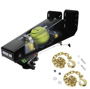 Reese 94716 16k Goose Box Fifth Wheel Hitch Safety Chains Replace Lippert Pin