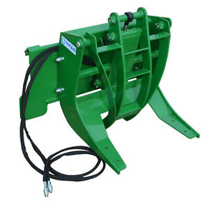 Titan 29 Hydraulic Log Grapple Attachment Fits John Deere Hook And Pin Tractors