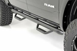 Rough Country Nerf Bar Drop Steps Fits 2019 Dodge Ram 1500 Crew Cab 5 7 Bed