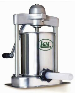 lem Mighty Bite 15lb Vertical Sausage Stuffer Stainless Steel Manual New