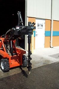 Auger Pkg For Mini Skid Steers high Torque low Speed w 6 Bit Mcmillen X1500