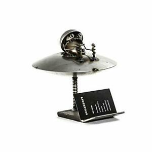 Sugarpost Metal Sculpture Gnome Be Gones Card Holder Ufo
