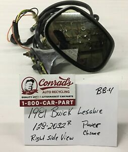 Used Vintage Buick Lesabre 1981 Right Side View Mirror drivers Quality