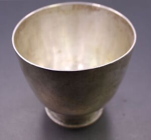Antique M Wall Sterling Silver Handwrought Hand Hammered Cup Heavy 8 9 Ozt