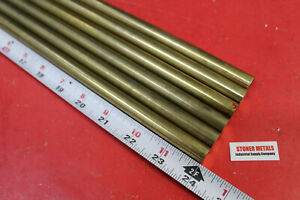 6 Pieces 1 2 C360 Brass Solid Round Rod 24 Long New Lathe Bar Stock H02 50 Od