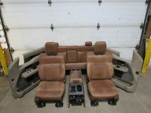 06 08 Ford F150 King Ranch Front Rear Seats W Trim Panel Center Console Oem