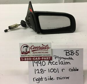 Used Vintage Plymouth Acclaim 1990 Right Side Mirror Drivers Quality