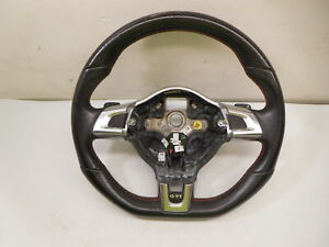 12 2012 Volkswagen Golf Gti Flat Bottom Steering Wheel W Shift Paddles Oem Lkq