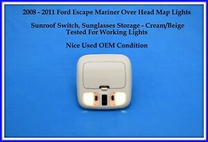 2008 2011 Ford Escape Mariner With Sunroof Overhead Console Map Lights Storage