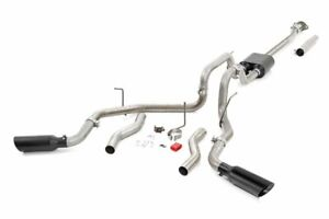 Rough Country Dual Exhaust Fits 2009 2014 Ford F150 V8 Stainless Black Tips