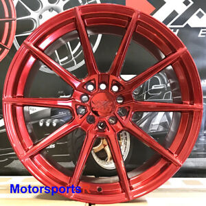 Xxr 567 Red Wheels 18 X9 5 10 5 20 Staggered Rims 5x4 5 99 04 Ford Mustang Gt