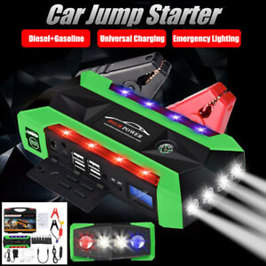 89800mah Car Jump Starter Lcd 4 Usb Rescue Battery Charger Emergency Power Us