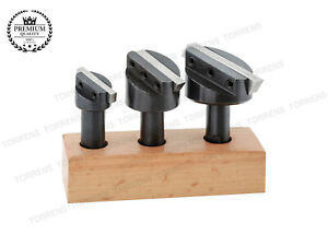 Fly Cutter 1 2 Shank Set Of 3pc With Free 3 High Speed Steel Blade For Cutters