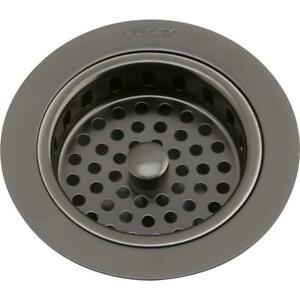 Elkay 3 1 2 Drain Fitting Antique Steel Finish Body And Basket With Rubber S