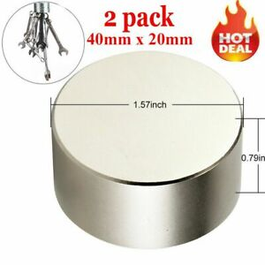 Large N52 Super Strong Neodymium Round Rare Earth Fridge Magnets Thick 40mm 20mm