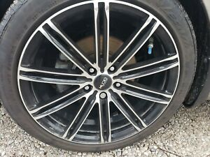 Used 18 Rims Machine Grey And Black With Tires