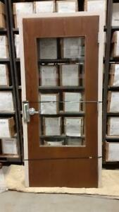 Commercial Interior Fire Rated Wood Door W Glass Metal Frame