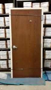 Commercial Fire Rated Interior Solid Core Door W Metal Frame