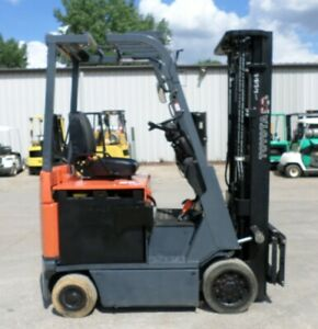 Toyota 7fbcu15 2013 3000 Lbs Capacity Great 4 Wheel Electric Forklift