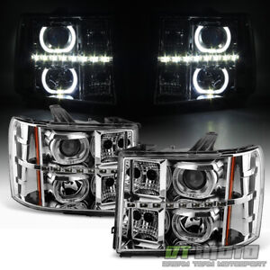 2007 2013 Gmc Sierra 1500 2500 3500 Smd Led Halo Projector Headlights Headlamps Fits More Than One Vehicle