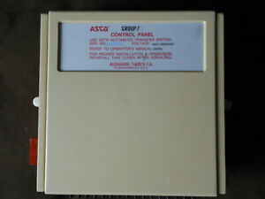 Used Asco Group 7 Automatic Transfer Switch Control Panel