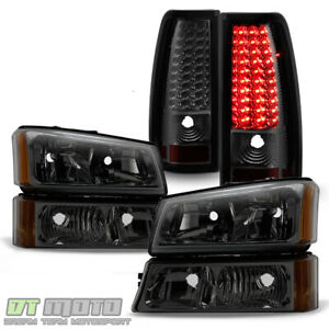 Smoke 2003 2006 Chevy Silverado 1500 2500 3500 Headlights Led Tail Lights Lamps