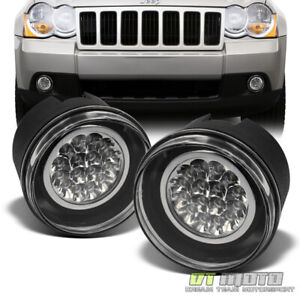 2005 2010 Jeep Grand Cherokee Commander Dakota Durango Full Led Fog Lights Lamps