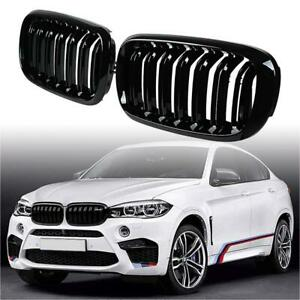 Abs Plastic Grille For 2014 2018 Bmw X5 x6 f15 f16 Glossy Kidney Grille 2pcs