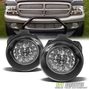 2001 2004 Dodge Dakota 01 03 Durango Hyper Led Bumper Fog Lights Lamps W Switch